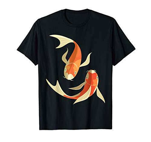 Koi Karpfen Fisch T-Shirt Japanisches Glücksymbol Geschenk