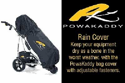 2012 Powakaddy Golf Bag Rain Cover Black Fits ALL BAGS