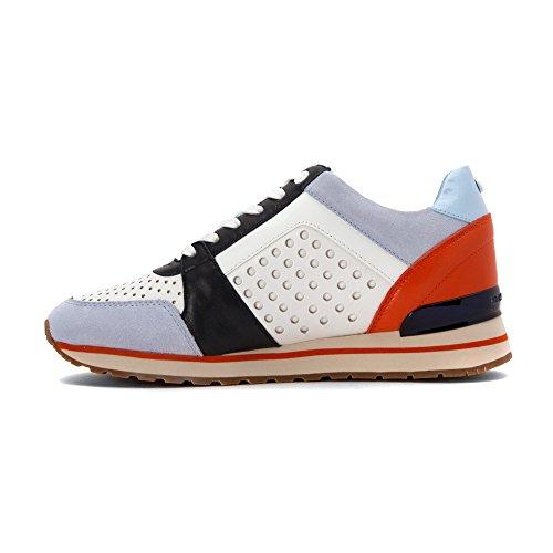 Sneaker Michael Kors Billie in pelle traforata bianca Bianco
