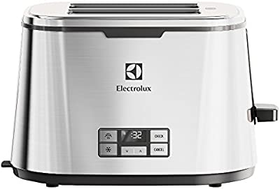 Electrolux EAT7800 - Tostador automático con display LCD, acabado en acero inoxidable, color gris