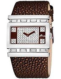 Lotus 15542/2 - Reloj con correa de cuero para mujer, color blanco / gris