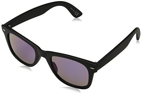 Sunglasses Istanbul Sonnenbrille, Schwarz (Rubb Black/Blue Revo 001), 50