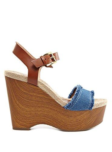 Michael Kors Sandalen 40.5 Blau (Kors Michael Shoes Wedge)