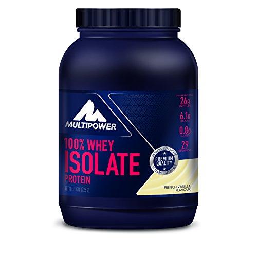Optimale 100% Whey Protein (Multipower 100% Whey Isolate Protein - 725 g Pack - Proteinpulver enthält essentielle Aminosäuren (BCAA) - 25 g Eiweiß pro Portion - Eiweißpulver für einen Proteinshake - Vanille)