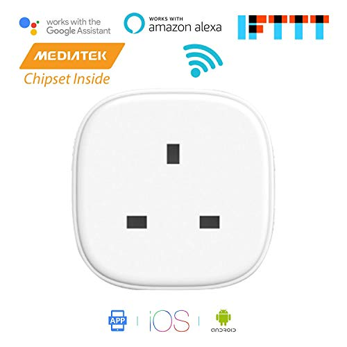 Meross Smart WI-FI Plug with Energy Monitor App Remote Control Voice Control Timing Function Works with Amazon Alexa (Echo and Echo Dot) Google Home and IFTTT 13A 3100W No Hub Needed MSS310 (1-Pack)
