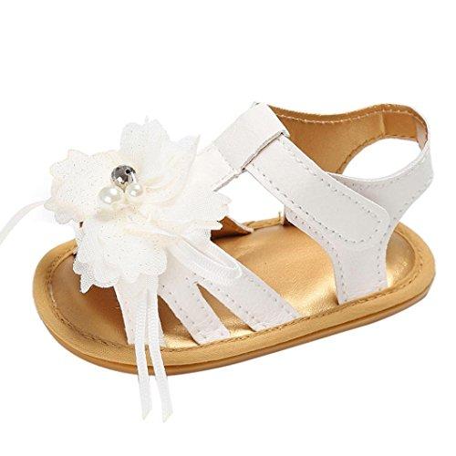 BZLine® Baby Kleinkind Sommer Mädchen Krippe Schuhe Blume