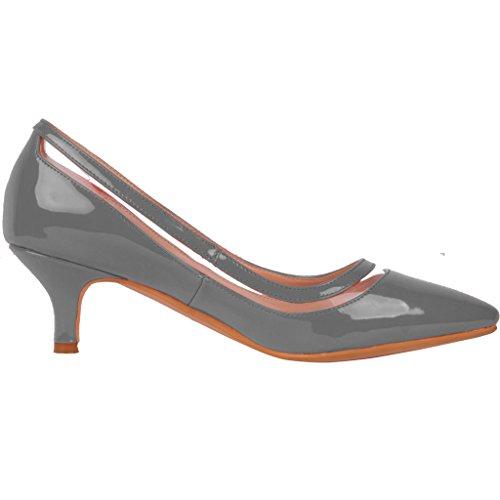 Calaier Femme Experience 9.5CM Aiguille Glisser Sur Escarpins Chaussures Gris