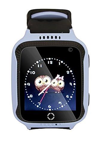 TKSTAR 1.44 Zoll Touchscreen Smart Uhr Kinder Tracker mit Kamera SIM Anrufe Anti-verloren SOS Armbanduhr Smart Armband für Kinder Mädchen Jungen Finder Sicherheitsmonitor Taschenlampe JUM05 (Gps Tracker Für Kinder)