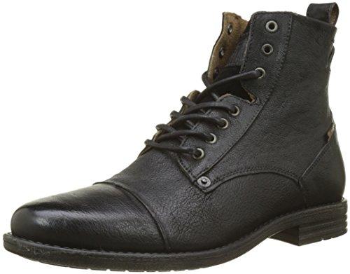 Levi's Herren Emerson Biker Boots, Schwarz (Noir Regular Black), 43 EU