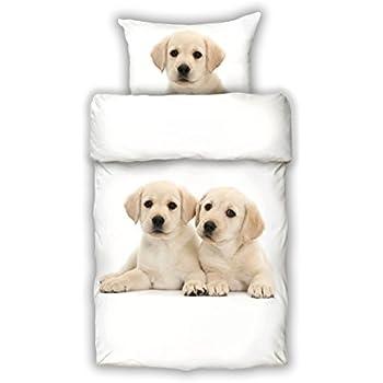Bettwäsche Labrador Digitaldruck Mako Satin Baumwolle