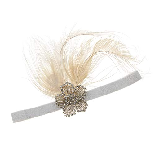 perfeclan 20er Vintage Flappers Stirnband Haarband Haarschmuck,