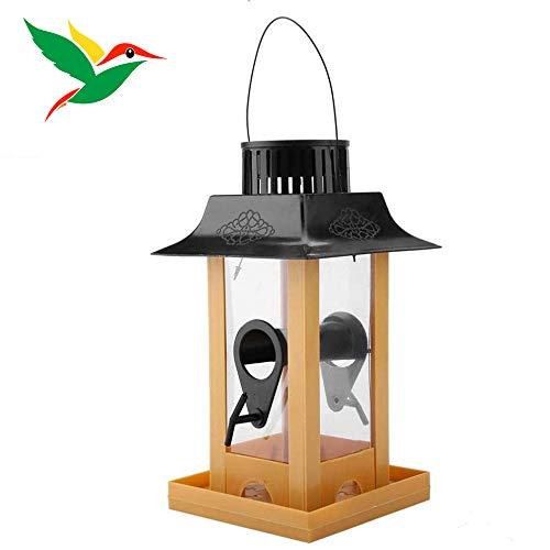 Raxyq mangiatoia per uccelli a luce solare a led stazione piccioni sospese corvo pappagalli balcone all'aperto alimentazione degli uccelli