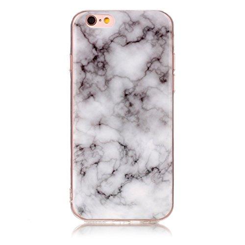 EKINHUI Case Cover Für Apple IPhone 6 6s Fall Marmorierung Textur Weiche TPU Abdeckung Slim Ultra Thin Anti-Kratzer Schock Absorption schützende rückseitige Abdeckung Shell ( Color : P ) E