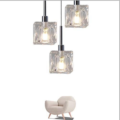umeitm 3-luz lampes suspendus lumière Ambiance verre ampoule LED incluse de conception moderne minimalisme 220 - 240 V lumière Blanc chaud/Blanc 5 - 10 M2 Blanc chaud