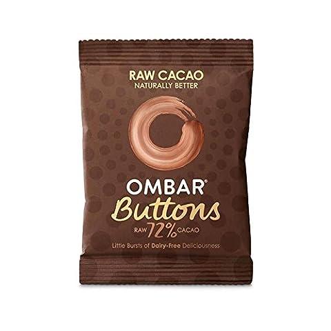 Ombar Brut 72% Boutons De Chocolat 25G - Paquet de