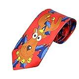 UJUNAOR Christmas Herren Krawatte Santa Feiertagsbindung Druck Kreatives Fliege(B,One Size)