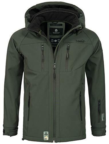 Marikoo Herren Softshell Funktions Outdoor Ski Regen Winter Jacke Sport B630 [B630-Noa-Gr�