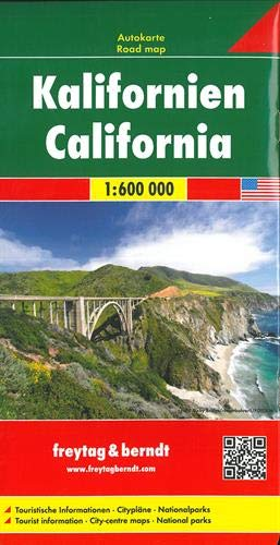 Kalifornien, Autokarte 1:600.000: Wegenkaart 1:500 000 (freytag & berndt Auto + Freizeitkarten)