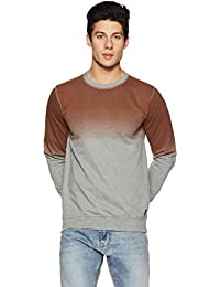 Symbol Amazon Brand Men's Round-Neck Printed Sweatshirt