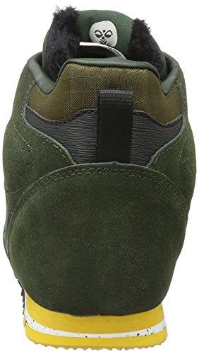 NORDIC ROOTS FOREST BOOT (hohe Sneakers), Outdoor Herrensneakers, Wildleder Sneakers aus Wildleder, mit Schnürung, gepolsterte Ferse, SPORTLICHE FREIZEITSCHUHE Grün (Rosin)