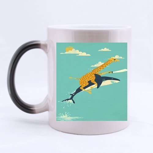 Giraffe and Shark Custom 11 oz Morphing Mug Heat Sensitive Color Changing 100{d7e1e12a90dd76ecc253ad4831a883afdde9da886870768715cb97f7a97a48c3} Ceramic Mugs