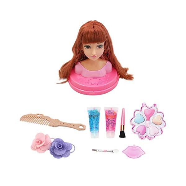 perfeclan Muñeca para Peinar, Juego de Estilo de Cabeza de Muñecas con Maquillaje y Accesorios para el Cabello – A