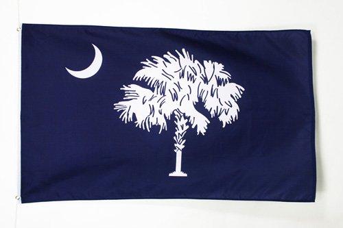 BANDERA de CAROLINA DEL SUR 150x90cm - BANDERA AMERICANA DE CAROLINA DEL SUR - EE.UU 90 x 150 cm poliéster ligero - AZ FLAG