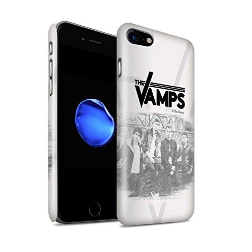 Officiel The Vamps Coque / Clipser Brillant Etui pour Apple iPhone 8 / Pack 6pcs Design / The Vamps Séance Photo Collection Esquisser