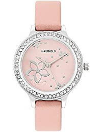 Laurels Pink Color Analog Women's Watch With Strap: LWW-FL-121207