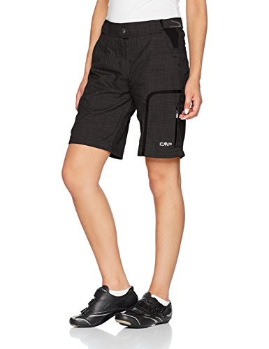 CMP Damen 3c96476 Rad Mountain Bike Shorts, Nero, 38