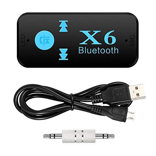 X6 Kabelloses Bluetooth-Auto-Set, 3,5 mm, AUX-Audio-Stereo, Musik-Empfänger, TF-Kartenleser,...