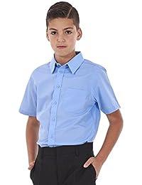 c16d9ef781bcbc BHS Boys 2 Pack Regular Fit Non Iron Short Sleeve School Shirt