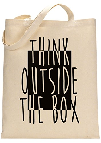 Always Think Outside The Box Custom Made Tote Bag