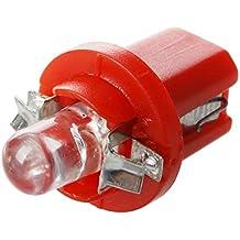 LED bombilla - SODIAL(R) 10 x Bombilla de salpicadero contador LED B8-5D T5 con el soporte de Rojo coche Tuning Auto Luz
