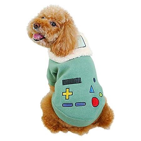 Kaiki Katzen Kleidung Stickerei Hundebekleidung Haustierkostüm Winter Warme hundejacke Mantel Kleidung Outfit Kleidung…