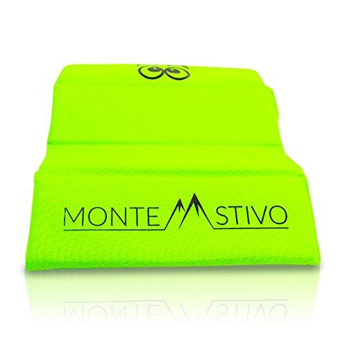 Monte Stivo® Expedition   Outdoor-Sitzmatte 30x40 cm Sitzfläche für Kinder und Erwachsene - 4-Fach faltbar   Zum Wandern