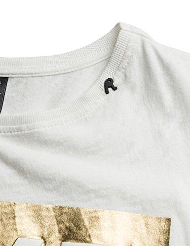 REPLAY, T-Shirt Donna Bianco (OPTICAL WHITE 1)