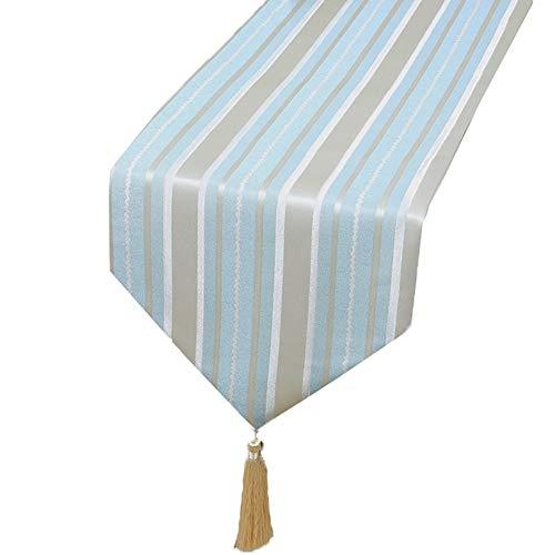 Chemin de table Chemin de table, linge de table bleu pour les fournitures de mariage d'anniversaire Literie de table basse de fête de famille Literie d'hôtel (taille : 33×180cm)