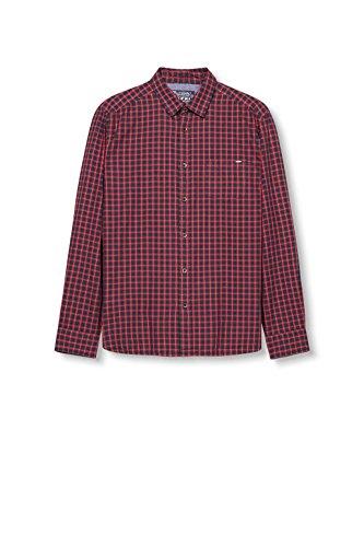 ESPRIT Herren Freizeithemd Rot (dark Red 610)