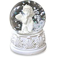 Shruti Weihnachten Engel flauschig 8/cm Snow Dome Snow Globe Ornament Tisch Dekoration