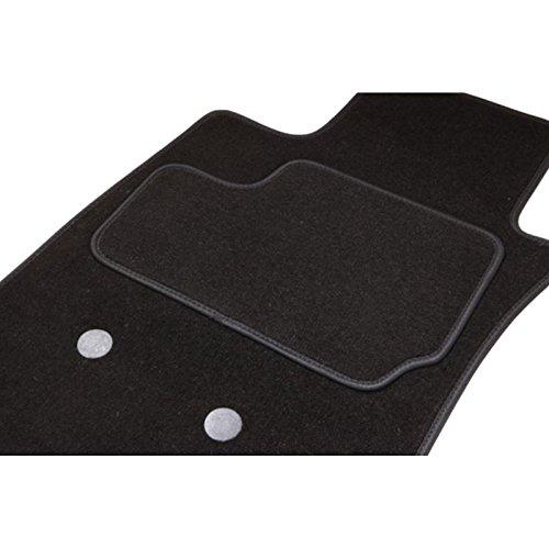 Teppich Serie 5 Limousine F10, 2 vorne + 1 hinten, Schwarz Teppich ETILE -