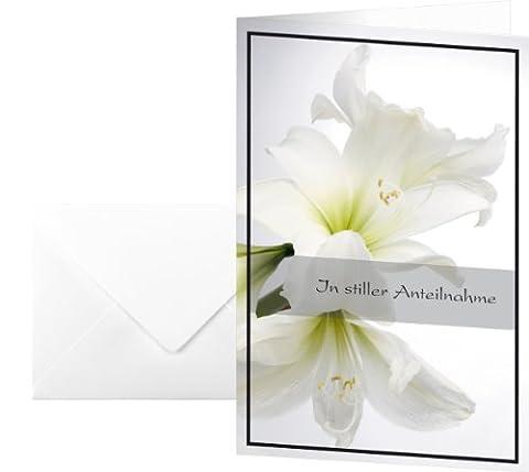Sigel DS006 Lot de 10 cartes de condoléances avec amaryllis