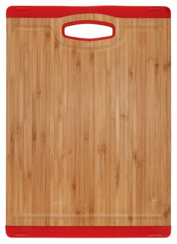 Unbekannt Totally Bamboo BA201719 Schneidbrett Colors mit Saftrille rot 25 x 35,5 cm, Colors (Totally Bamboo-schneidbrett)
