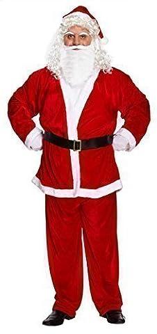 Da uomo 5 pezzi Babbo Natale taglia adulto standard & XXL