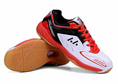 Hommes Et Femmes Chaussures De Badminton Léger 2018 Printemps Nouvelles Chaussures De Sport Occasionnels Unisexe Respirant Formateurs Rouge