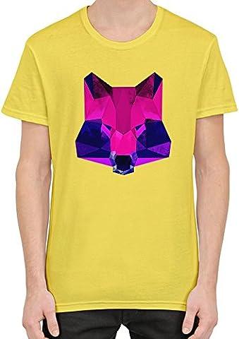 Purple Raccoon Face T-Shirt Homme XX-Large