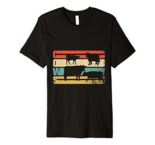 Funny Distressed Kuh Lover T-Shirt Rind Geschenk für Landwirte