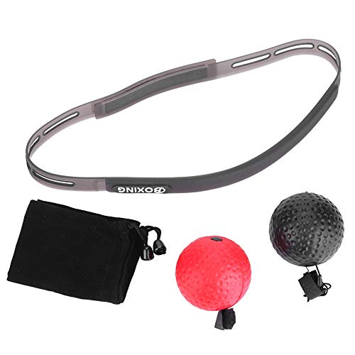 Alomejor Boxing Head Ball Boxtraining Speed   Ball mit Stirnband für Reflex Speed   Training