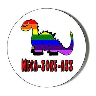 Kühlschrankmagnet, Motiv: Insanity Mega Sore Asel Gay-Dinosaure, 45 mm