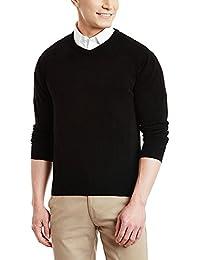 ZAKOD Plain Black Full winter wear sweater for winters